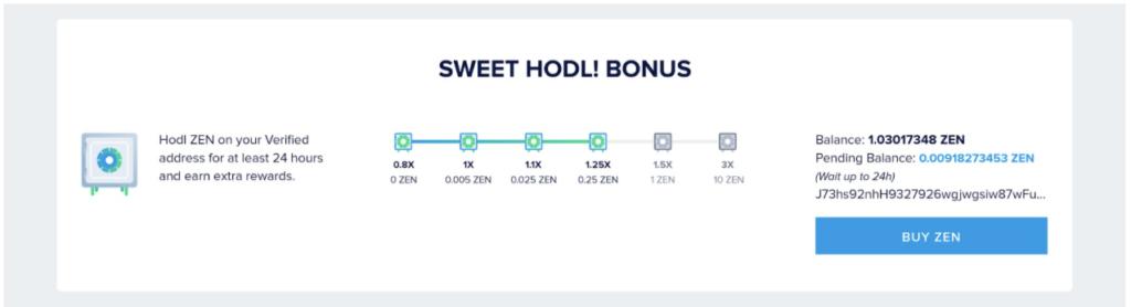 sweet hodl bonus